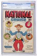 Golden Age (1938-1955):Humor, National Comics #49 Rockford pedigree (Quality, 1945) CGC VF+ 8.5 Cream to off-white pages....