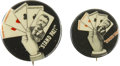 """Political:Pinback Buttons (1896-present), Theodore Roosevelt: Two """"Stand Pat"""" Pinback Buttons,... (Total: 2 Items)"""