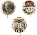 Political:Pinback Buttons (1896-present), Al Smith: Three Scarce Political Campaign Buttons, ... (Total: 3 Items)