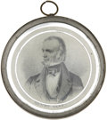 "Political:Small Miscellaneous (pre-1896), Henry Clay: ""Pewter Rim"" with Mirror Back, 61mm in Diameter. ..."