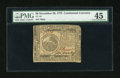 Colonial Notes:Continental Congress Issues, Continental Currency November 29, 1775 $6 PMG Choice Extremely Fine45....