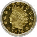 California Fractional Gold: , 1874 50C Indian Round 50 Cents, BG-1055, High R.4, MS64 ProoflikeNGC. NGC Census: (5/1). (#710884...