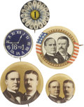 Political:Pinback Buttons (1896-present), Presidential Campaign Buttons: Collection of Five, 1896-1906.... (Total: 5 Items)