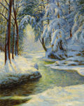 Fine Art - Painting, American:Modern  (1900 1949)  , WALTER LAUNT PALMER (American, 1854-1932). Winter Landscape,1925. Oil on canvas laid on board. 30 x 24 inches (76.2 x 6...