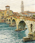 Fine Art - Painting, American:Modern  (1900 1949)  , LOUIS ASTON KNIGHT (American, 1873-1948). Verona. Oil oncanvas. 22 x 18-1/2 inches (55.9 x 47.0 cm). Signed and titled ...