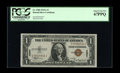 Fr. 2300 $1 1935A Hawaii Silver Certificate. PCGS Superb Gem New 67PPQ. Huge margins and very bright inks are the pleasi...