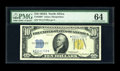 Small Size:World War II Emergency Notes, Fr. 2309* $10 1934A North Africa Silver Certificate. PMG ChoiceUncirculated 64.. It has been a few auctions since we have h...