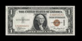 Error Notes:Miscellaneous Errors, Fr. 2300 $1 1935A Hawaii Silver Certificate. Gem Crisp Uncirculated.. The Hawaii overprint on the front is shifted left into...