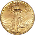 Saint-Gaudens Double Eagles: , 1921 $20 MS64 PCGS. The 1921 is a classic rarity in theSaint-Gaudens double eagle series. It is comparable in overallrari...