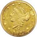 California Fractional Gold: , 1871 25C Liberty Round 25 Cents, BG-837, R.7, MS63 PCGS. This isthe single-finest PCGS-certified example of the rare BG-83...