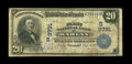 National Bank Notes:Kentucky, Harlan, KY - $20 1902 Date Back Fr. 645 The First NB Ch. # (S)9791.An extremely rare bank with just two examples report...