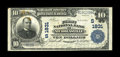 National Bank Notes:Kentucky, Nicholasville, KY - $10 1902 Plain Back Fr. 627 The First NB Ch. #(S)1831. This $10 has some staining at upper left and...