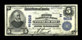 National Bank Notes:Pennsylvania, Intercourse, PA - $5 1902 Plain Back Fr. 600 The First NB Ch. # (E)9216. A most attractive example of a large size note ...