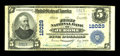 National Bank Notes:Pennsylvania, Jerome, PA - $5 1902 Plain Back Fr. 608 The First NB Ch. # 12029. A very rare Somerset County bank, with this by far the...