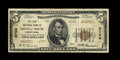 National Bank Notes:Pennsylvania, Shingle House, PA - $5 1929 Ty. 2 The First NB Ch. # 6799. ...