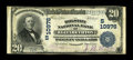National Bank Notes:Tennessee, Elizabethton, TN - $20 1902 Plain Back Fr. 658 The Holston NB Ch. #(S)10976. This private named bank was organized on M...