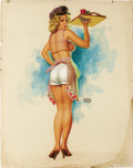 Illustration:Pin-Up, EARL MORAN (American 1893 - 1984) . Untitled . Pastel onboard . 28 x 22in. . Signed center-right...