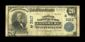National Bank Notes:Virginia, Leesburg, VA - $10 1902 Plain Back Fr. 626 The Peoples NB Ch. #3917. The signatures are missing on this Very Good-Fin...
