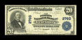 National Bank Notes:Virginia, Lynchburg, VA - $20 1902 Plain Back Fr. 650 The Peoples NB Ch. #2760. The legible stamped signatures are of W.W. Dicker...