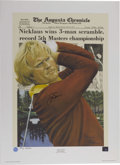 Golf Collectibles:Autographs, Set of (4) Jack Nicklaus Autographed Lithographs Limited Edition. Presented By: Douglas London Originals. The year 2000 mar...