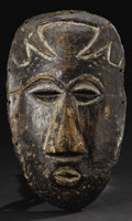 African: , Kuba (Democratic Republic of Congo). Face Mask. Wood, traces of pigment. Height: 9 ½ inches Width: 5 ¾ inches Depth: 1 ¾ i...