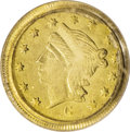 California Fractional Gold: , 1866 25C Liberty Round 25 Cents, BG-823, R.7, MS63 PCGS. The singlefinest PCGS-certified example of this rare Breen-Gillio...