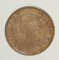 Canada:Nova Scotia, Canada: Nova Scotia 1 Cent 1864, KM8.2, lustrous with a 3 scratchedinto the left obverse field and a small corrosion mark on Victor...