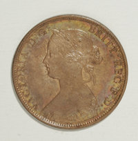 Canada: Nova Scotia 1 Cent 1864, KM8.2, lustrous with a 3 scratched into the left obverse field and a small corrosion ma...