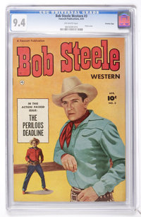 Bob Steele Western #3 Crowley Copy (Fawcett, 1951) CGC NM 9.4 Off-white pages