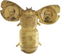 "Political:Miscellaneous Political, McKinley & Hobart: A Mechanical ""Goldbug"" Campaign Badge. ..."
