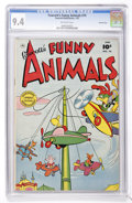 Golden Age (1938-1955):Funny Animal, Fawcett's Funny Animals #74 Crowley Copy (Fawcett, 1952) CGC NM 9.4Off-white pages....