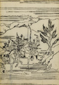 Fine Art - Work on Paper:Print, JAPANESE SCHOOL (20th Century). Untitled. Woodblock on rice paper. 9 x 6-1/4 inches (22.9 x 15.9 cm). ...