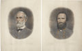 Military & Patriotic:Civil War, Robert E. Lee & Stonewall Jackson: Color Lithographed Prints, ... (Total: 2 Items)