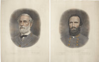 Robert E. Lee & Stonewall Jackson: Color Lithographed Prints