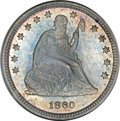 Proof Seated Quarters, 1860 25C PR66 NGC....