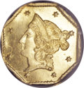 California Fractional Gold, 1853 $1 Liberty Octagonal 1 Dollar, BG-518, R.5, MS63 NGC....