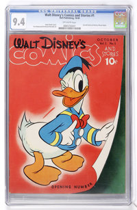 Walt Disney's Comics and Stories #1 (Dell, 1940) CGC NM 9.4 Off-white pages