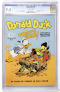 Golden Age (1938-1955):Cartoon Character, Four Color #9 Donald Duck (Dell, 1942) CGC NM 9.4 Off-white pages....