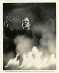 """Movie Posters:Horror, Lon Chaney Jr. in """"The Ghost of Frankenstein"""" (Universal, 1942). Still (8"""" X 10"""")...."""