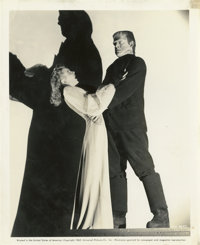 "Lon Chaney Jr. and Evelyn Ankers in ""The Ghost of Frankenstein"" (Universal, 1942). Still (8"" X 10"")..."