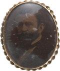 Political:Ferrotypes / Photo Badges (pre-1896), Ulysses S. Grant: Photograph Portrait Broach....