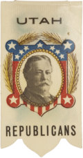 Political:Ribbons & Badges, William Howard Taft Colored Celluloid Campaign Ribbon....