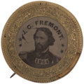 Political:Ferrotypes / Photo Badges (pre-1896), John C. Frémont: Ferrotype Portrait Brooch...
