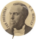 Political:Pinback Buttons (1896-present), Charles E. Bentley Political Campaign Pinback Button, 1896, ...