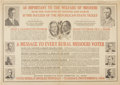 Political:Posters & Broadsides (1896-present), Hoover and Curtis: An Unusual 1928 Missouri Coat-Tail Poster....