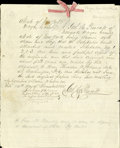 Autographs:Military Figures, Joel H. Prescott Autograph Audit Document for Indian War Supplies Signed.... (Total: 4 Items)