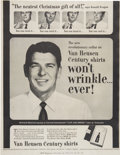 Political:Posters & Broadsides (1896-present), Ronald Reagan: An Unusual 1953 Advertising Poster For Van Heusen Shirts....