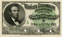 World's Columbian Exposition: Lincoln Admission Ticket