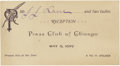 General Historic Events:World Fairs, World's Columbian Exposition: Press Club of Chicago Pass,...