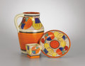 Ceramics & Porcelain, British:Modern  (1900 1949), CLARICE CLIFF (British, 1899-1972). Three Hand-painted FantasqueBizarre Pieces in the Melon Pattern, circa 1930-1933. S...(Total: 3 Items)